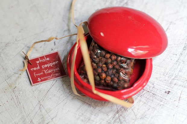 Kampot Red and White Peppercorns from Cambodia