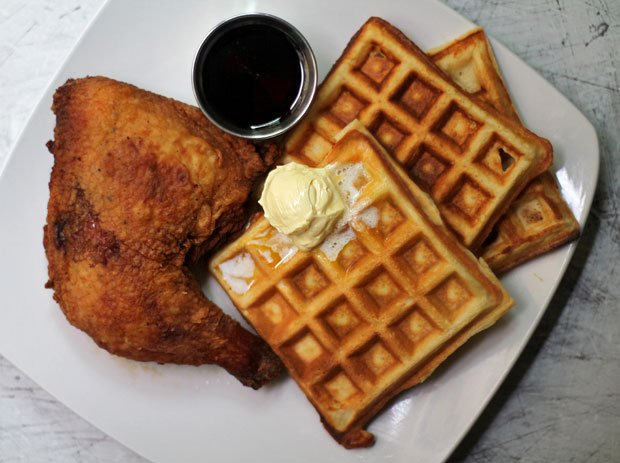 (Buttermilk) Fried Chicken and Waffles‏