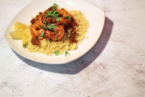 Creole Shrimp over Couscous