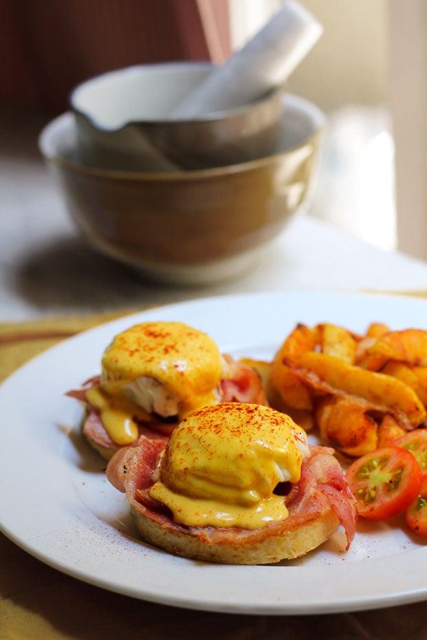 Eggs Benedict with Blender Hollandaise Sauce