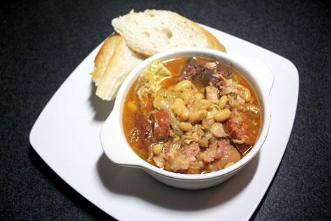 Fabada Asturiana (Spanish Bean Stew)