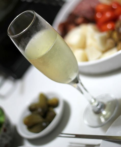 Valentine's Day Truffled Cheese with Mushroom Fondue