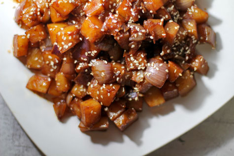 Gamja Jorim (Korean Spicy Potato Side Dish)
