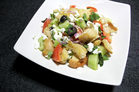 Greek-Style Bread Salad‏