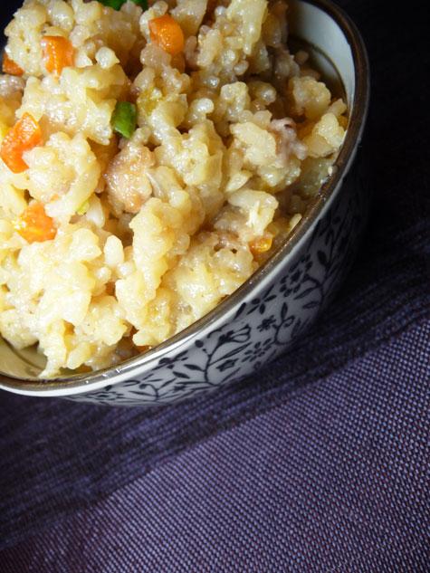 Ren's Japanese Fried Rice ala Kimpura with Chicken Teriyaki
