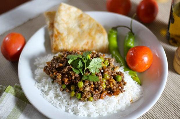 Kheema: Indian Ground Beef with Peas
