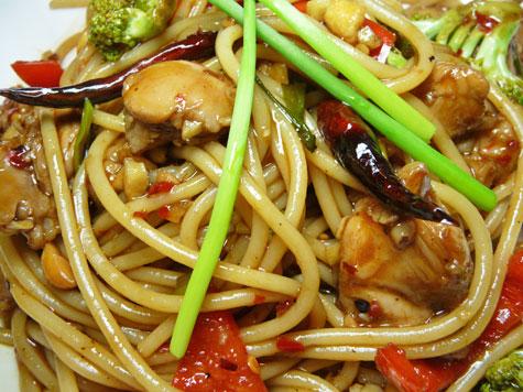how to make kung pao spaghetti