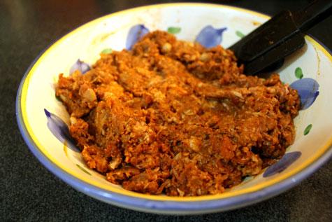 Longganisa ala Spanish Chorizo with Scrambled Eggs, Country Fries and Homemade Focaccia