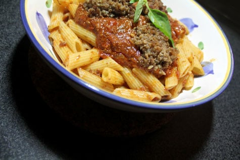 Penne with Homemade Italian Fennel Sausage‏‏