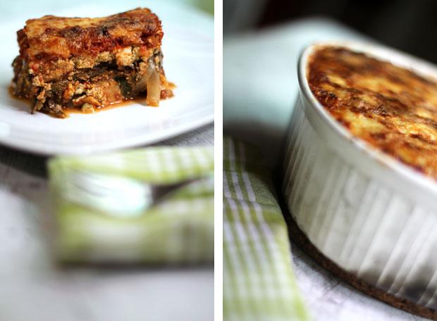 Roasted Vegetable and Tofu No-Noodles Lasagna