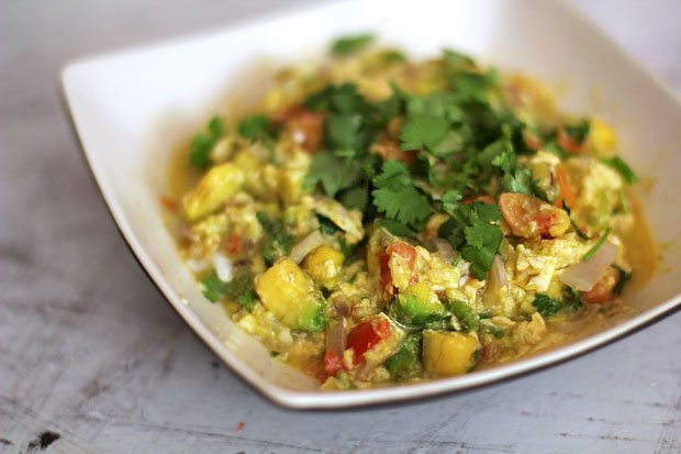Spicy Avocado Scramble‏‏