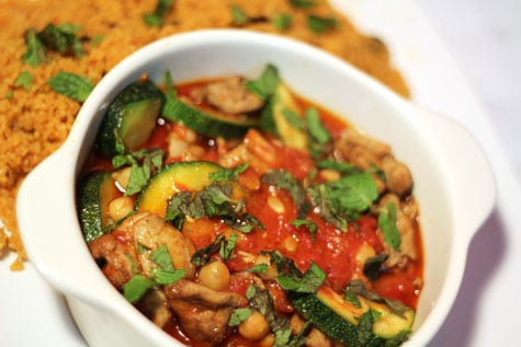 Sauteed Chicken Chunks with Harissa and Couscous by Jean-Georges Vongerichten and Mark Bittman