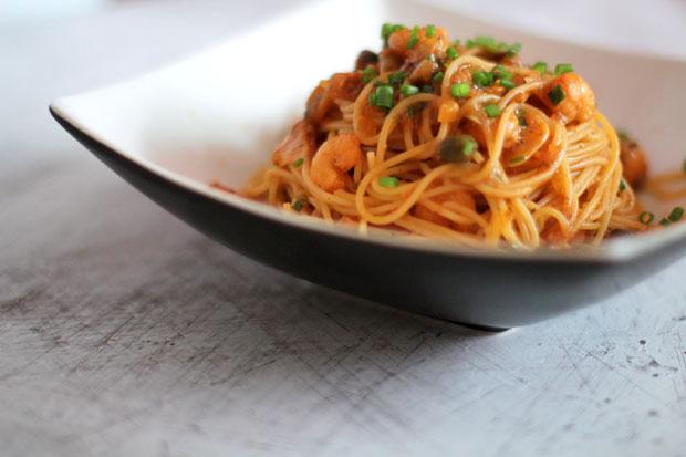Spicy Shrimp Capellini