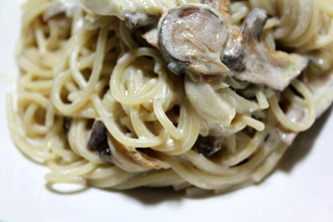 Spaghetti with Shiitake and Truffle Cream Sauce‏