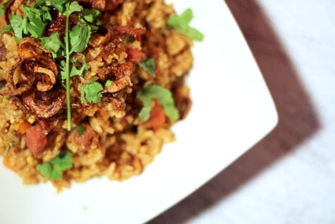 Thai-Style Curry Fried Rice with Crispy Shallots
