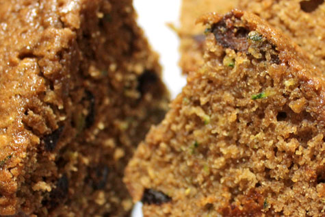 Zucchini with Pecan and Fig Loaf‏‏