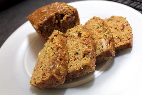 Zucchini with Pecan and Fig Loaf‏