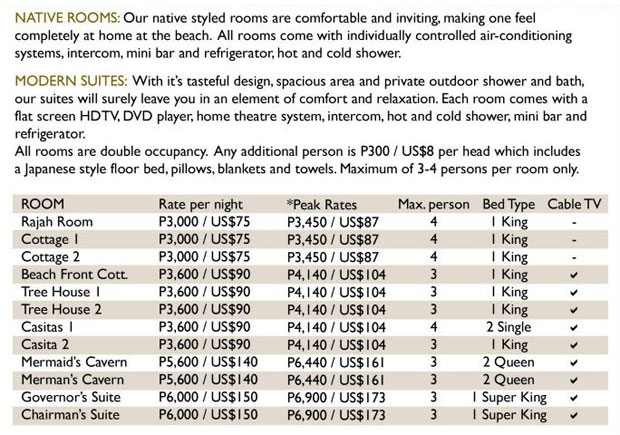 La Luz Room Rates