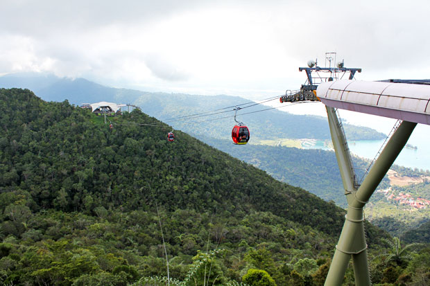 Excuse Me While I Kiss the SkyCab in Langkawi, Malaysia