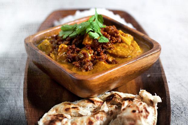 Potato and Bamboo Shoot Curry with Longganiza