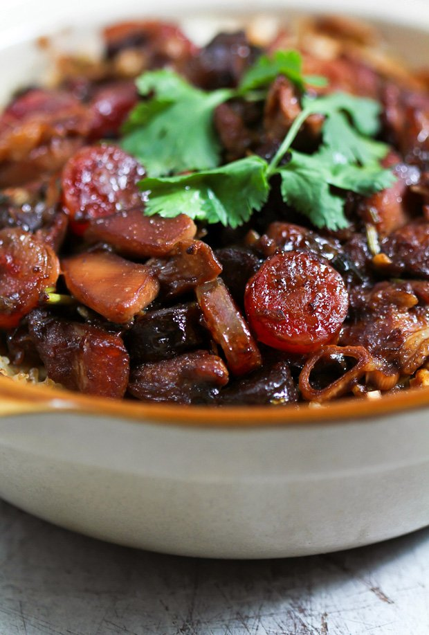 Chicken and Chinese Sausage Clay Pot Rice