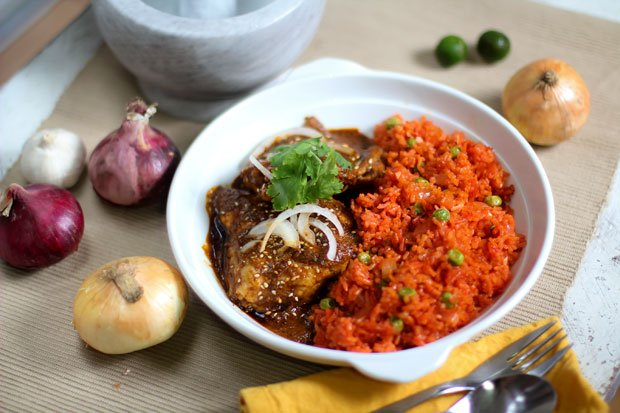 Oaxacan Chicken Mole with Red Rice