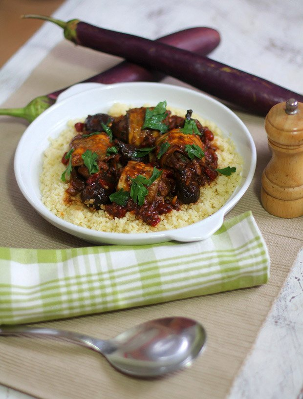 Aubergine Beef Kefta by The Giggling Gourmet