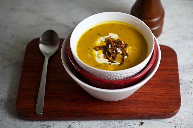 Roasted Squash Soup with Sage‏