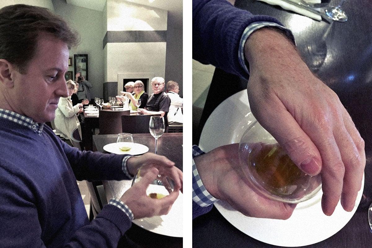 Smelling olive oil