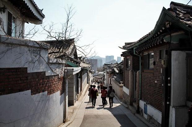Walk through Old Seoul at Bukchon Hanok Village, Seoul, South Korea