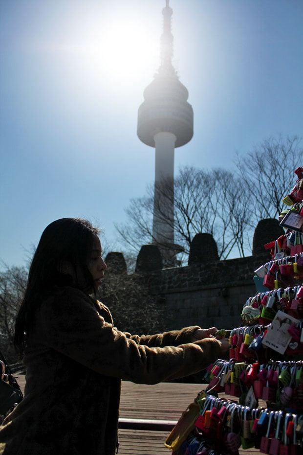 On Lovelocks & Lofty Views at N Seoul Tower, Seoul, South Korea