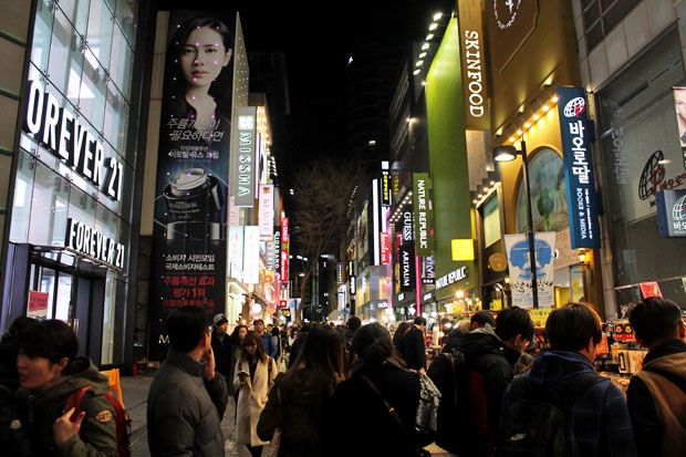 Insadong, Myeongdong, and Hongdae in Seoul, South Korea