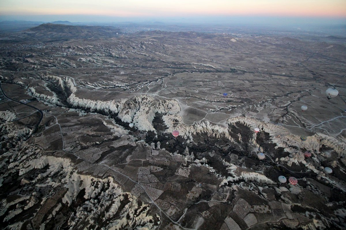 Watching the Sun Rise in a Hot Air Balloon with Cappadocia Voyager Balloons