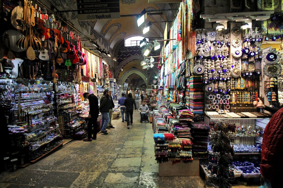 The Grand and Egyptian Spice Bazaars and Rustem Pasha Mosque in Istanbul, Turkey
