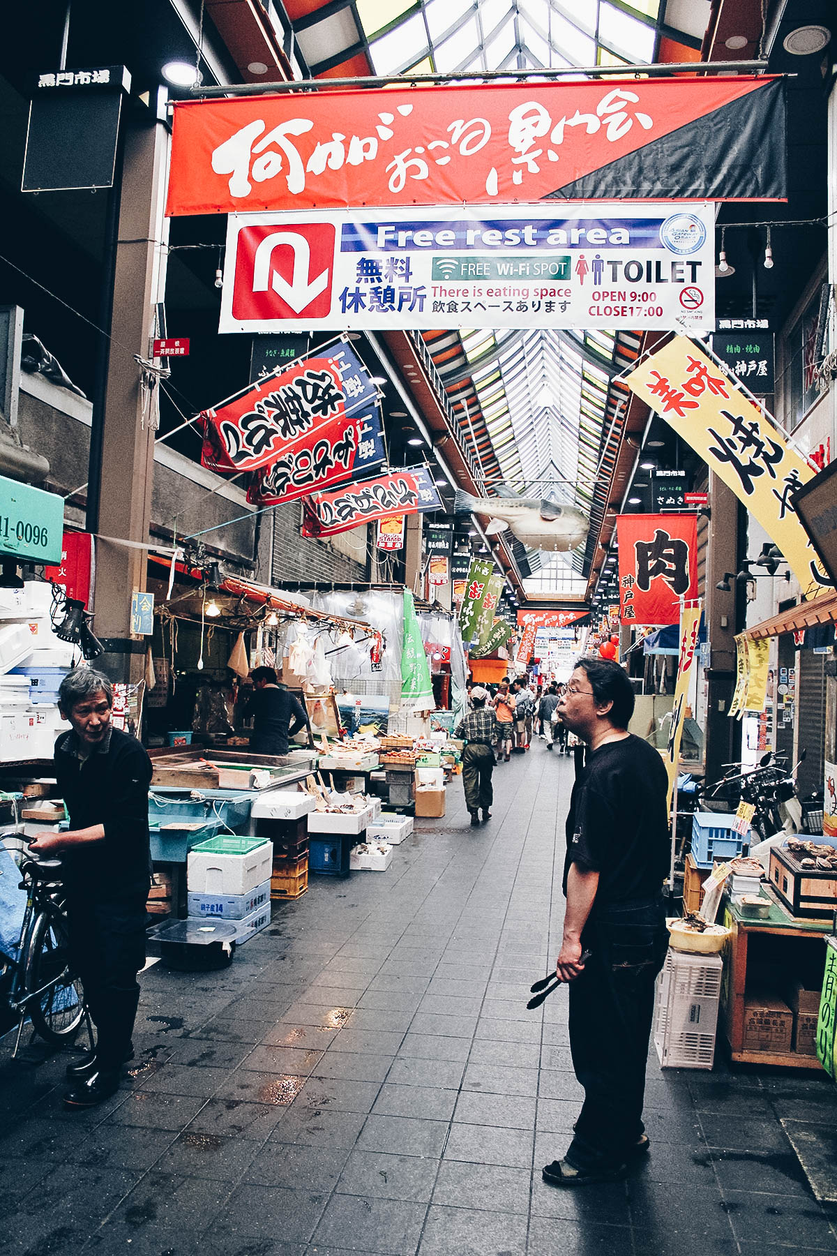 Kuromon Ichiba Market, Osaka, Japan