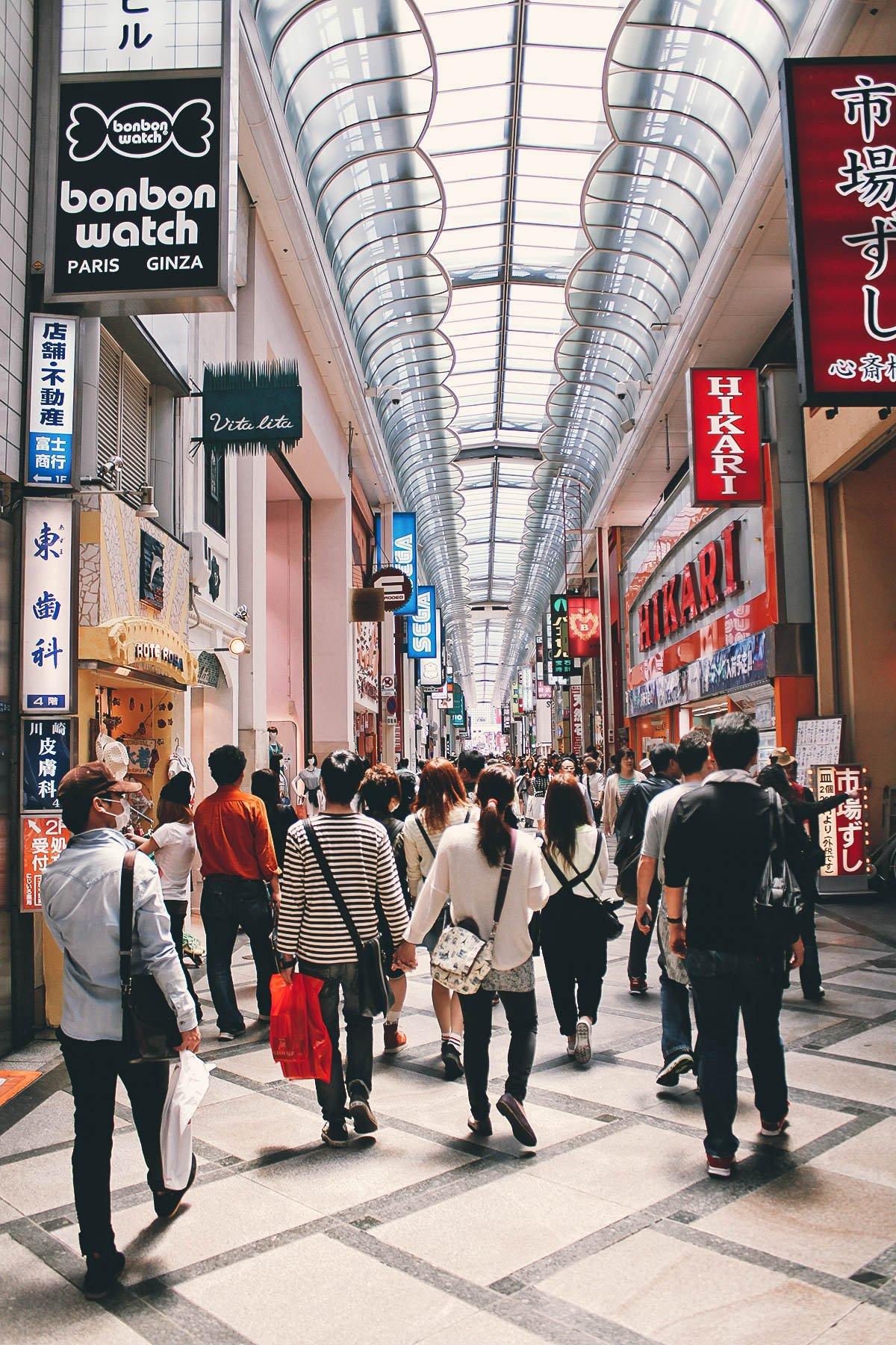 Shinsaibashi-Dotonbori, Osaka, Japan