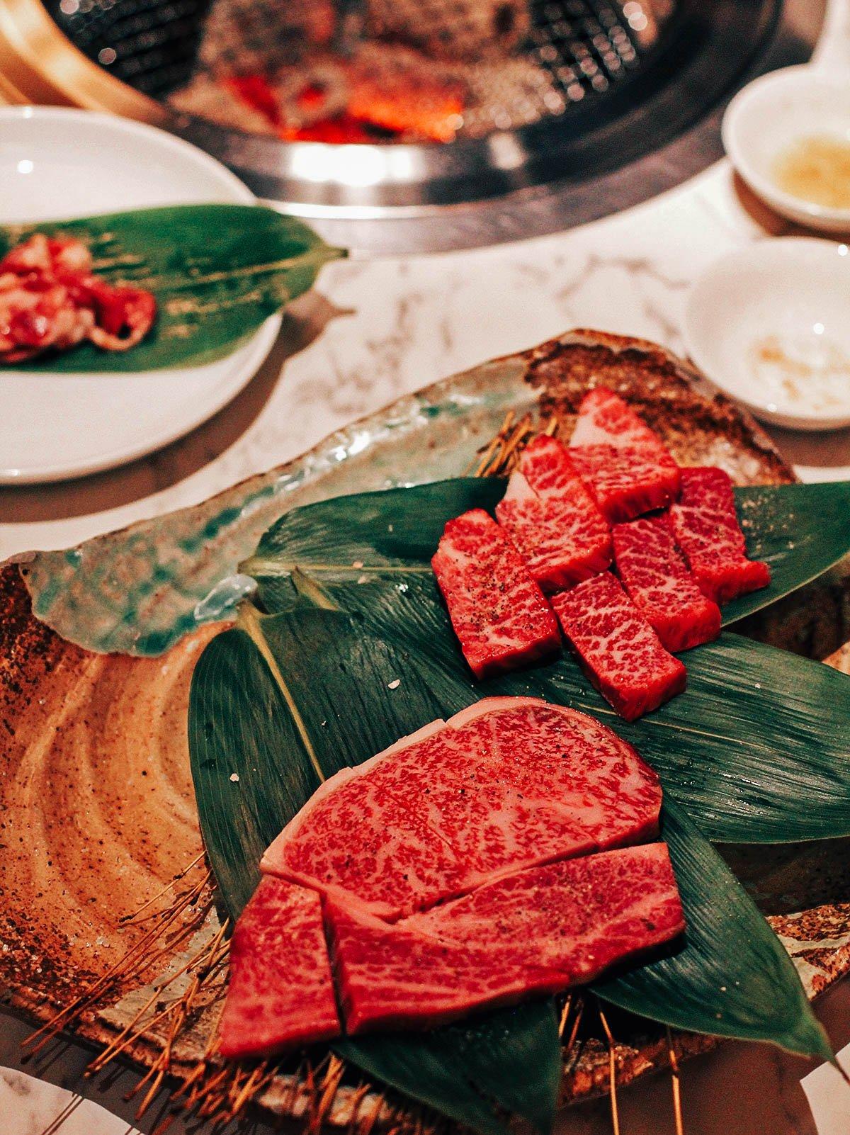 Kobe beef at Tsurugyu in Osaka, Japan