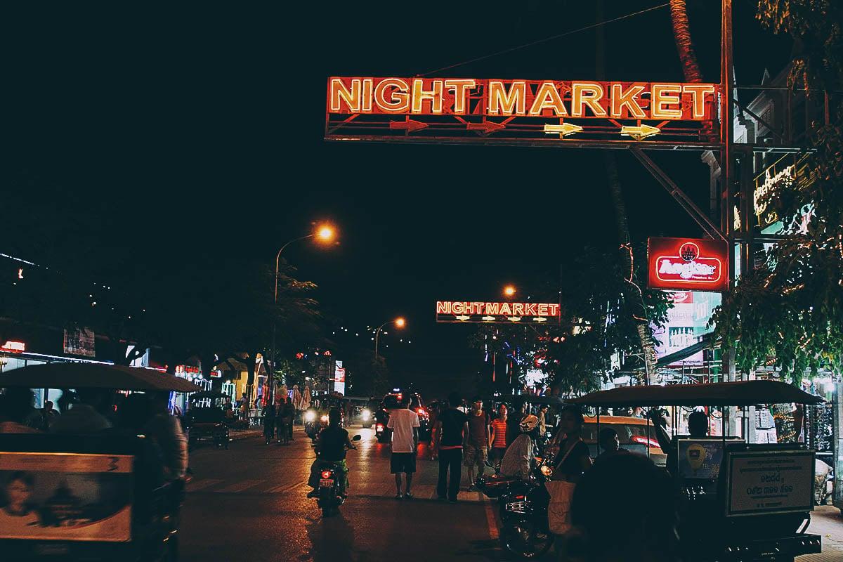 Night Market, Siem Reap, Cambodia
