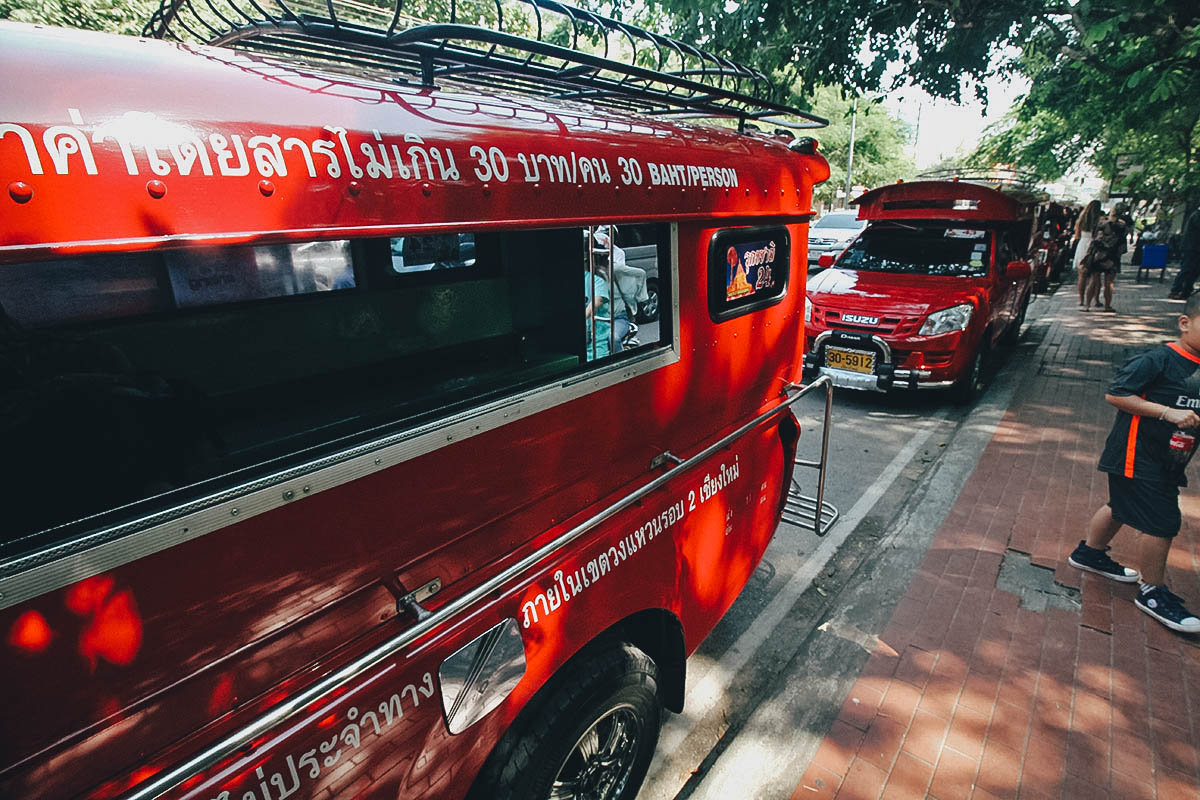 Red Songthaew, Chiang Mai, Thailand