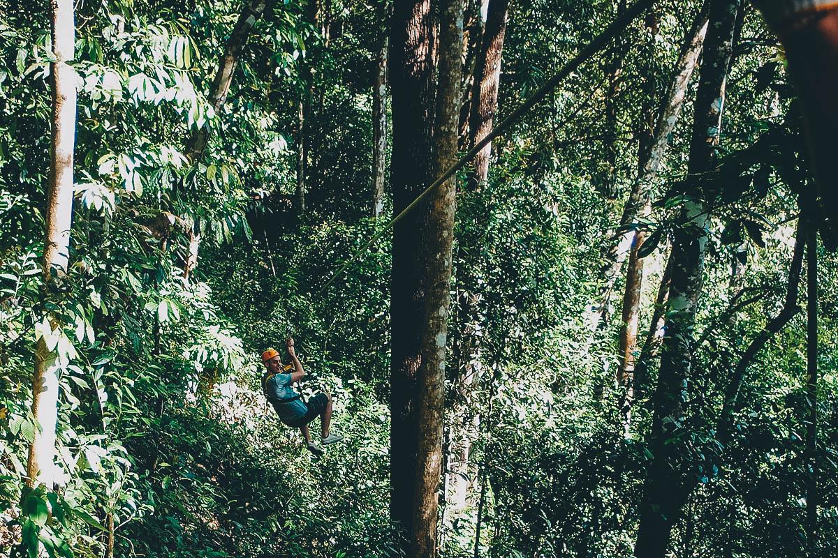 Ziplining, Chiang Mai, Thailand