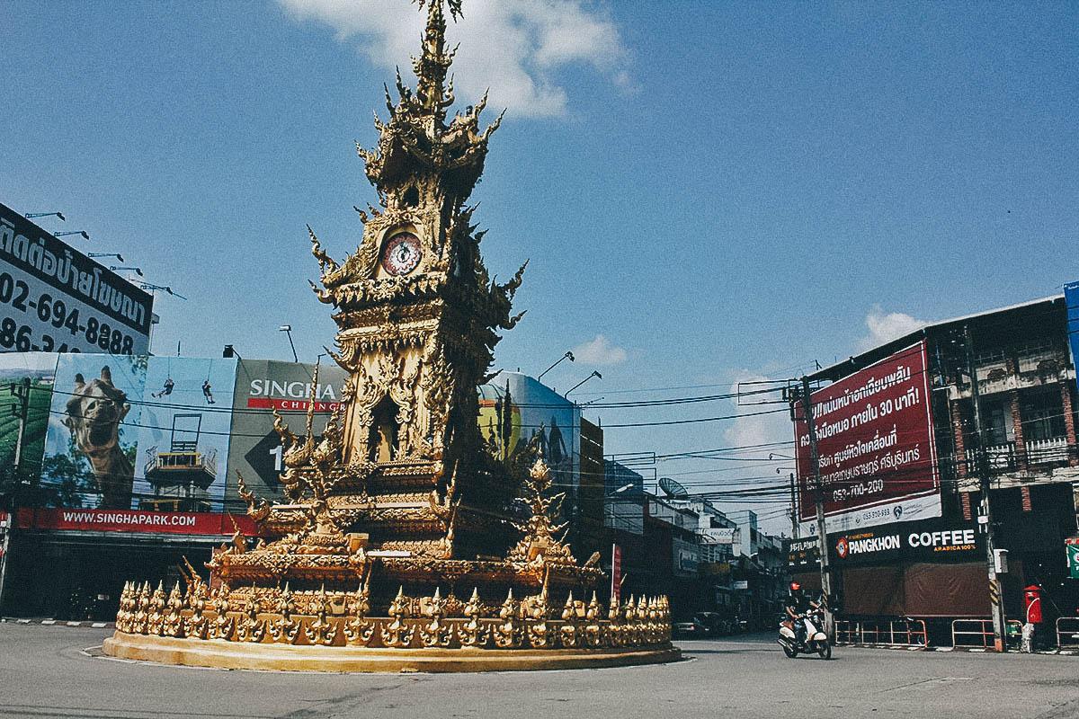Golden Clock Tower, Chiang Rai, Thailand