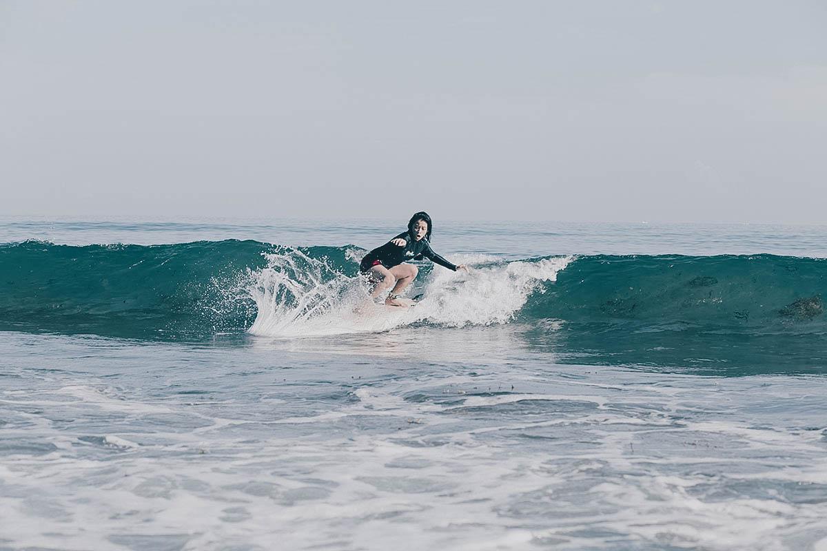 Surfing in San Juan, La Union, Philippines