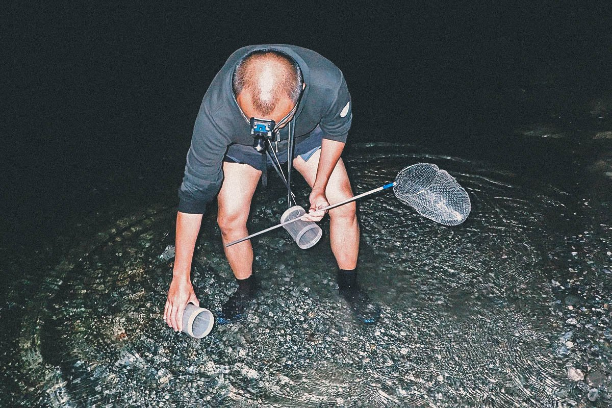 Shrimping in Hualien with the River King