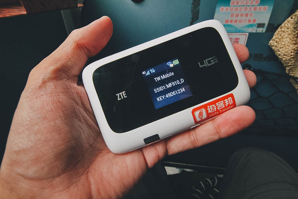Pocket wifi rental, Taiwan
