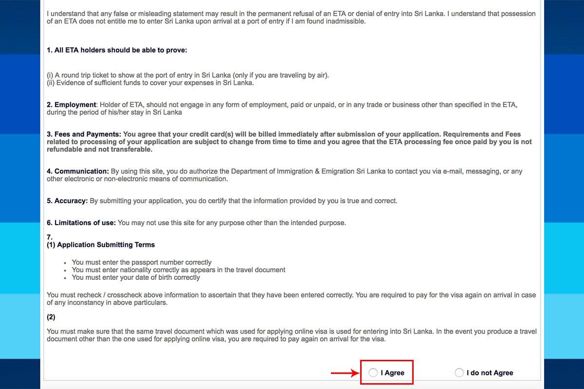 How to Apply for an ETA to Sri Lanka