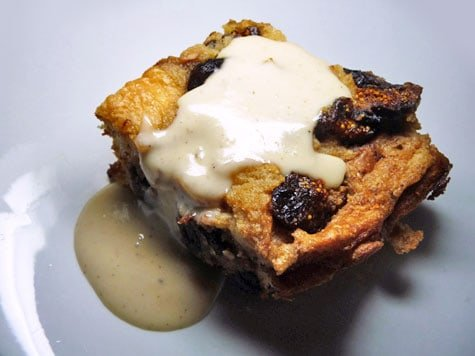 Chocolate Fig Bread Pudding with Spirited Sauce