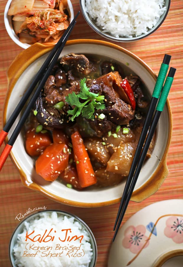 Kalbi Jim (Korean Braised Beef Short Ribs)