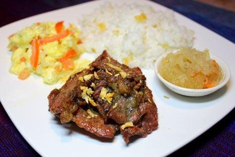 Beef Tapa Marinated in Fish Sauce