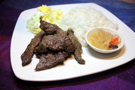 Beef Tapa Marinated in Soy Sauce