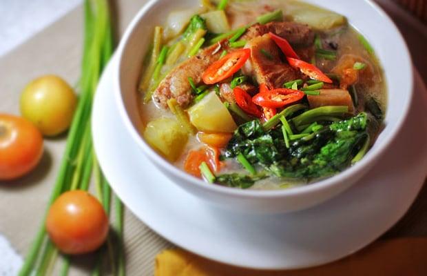 Hot and Sour Pork Soup (Thai-Filipino Pork Sinigang)